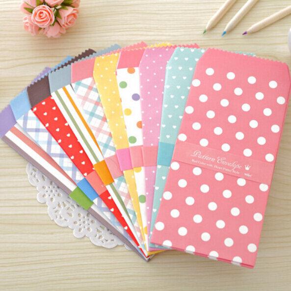 20 개/몫 한국 귀여운 만화 미니 다채로운 종이 봉투 Kawaii 작은 아기 선물 공예 봉투 결혼식 편지 초대장에 대 한