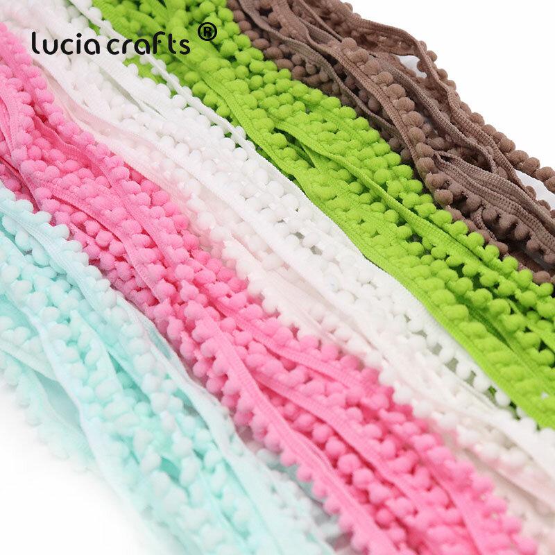 Lucia หัตถกรรม2/12/24หลา10Mm Pom Trim Ball Braid Lace Fringe ริบบิ้นผ้าเย็บผ้า DIY handmade อุปกรณ์เสริม K0601