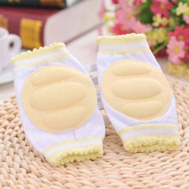 1คู่เด็กKneepad Cozy Cotton Breathableฟองน้ำเด็กเข่าPadsเรียนรู้Walkการป้องกันที่ดีที่สุดCrawlingกางเกงขายาวPad