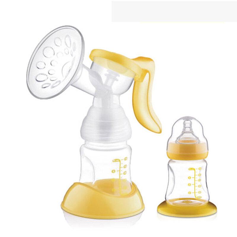 مضخة رضاعة يدوية من السيليكون ، أصلي ، مع زجاجة حليب ، بدون BPA ، رضاعة ، رضاعة ، رضاعة ، رضاعة ، T0100