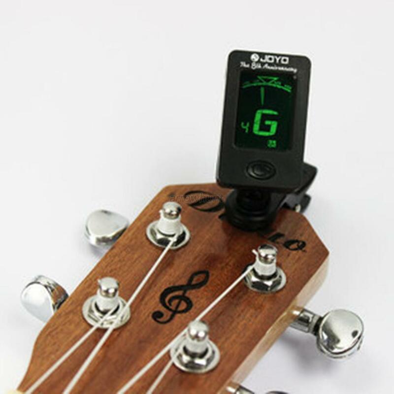 Accordeur numérique chromatique à Clip, pour guitare électrique acoustique, basse, violon, Ukulele, pièces de guitare, accessoires