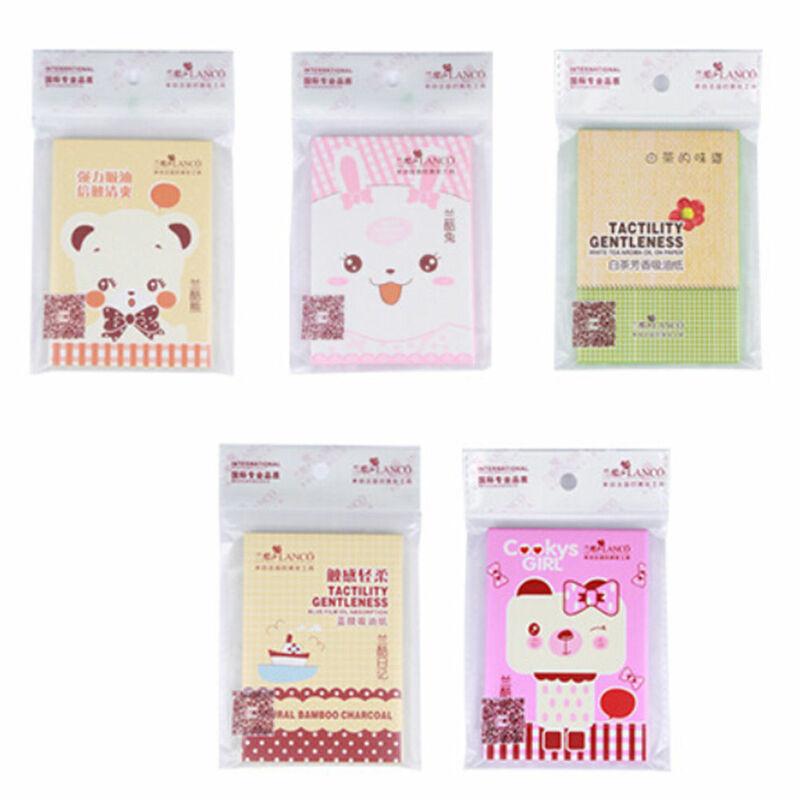 1Pack Venditore Caldo Facial Oil Control Assorbimento Film Tessuti Pasta di Trucco Carta Assorbente Casuale di Stile del Commercio All'ingrosso