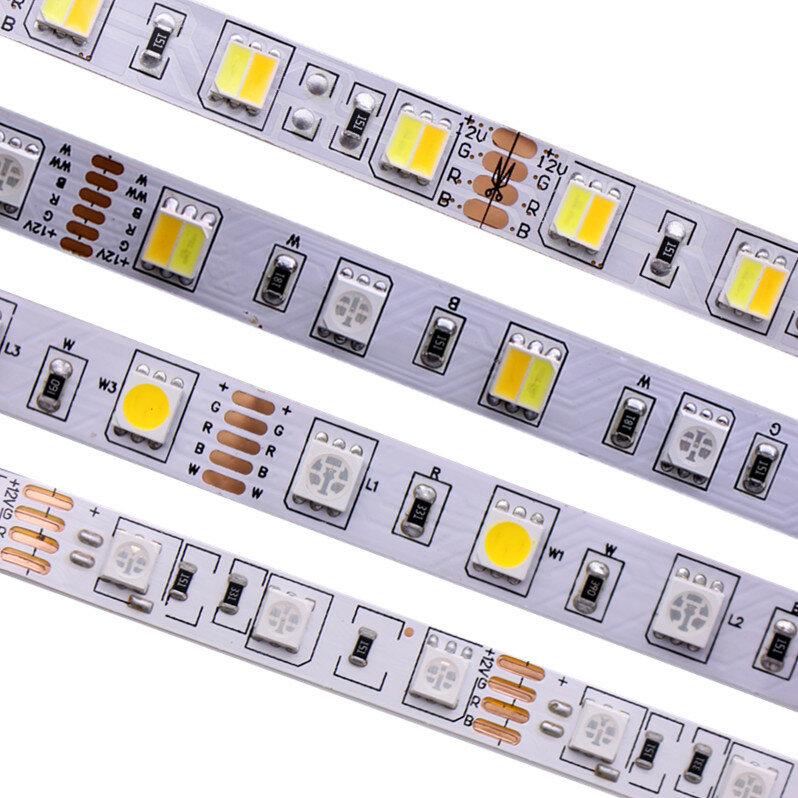 Tira de luces led flexibles para decoración, banda de luces 5M, 300 ledes cc 12V 24V, CCT RGBCCT RGBW RGBWW, blanco cálido, resistente al agua, tipo de gaza SMD modelo 5050 RGB