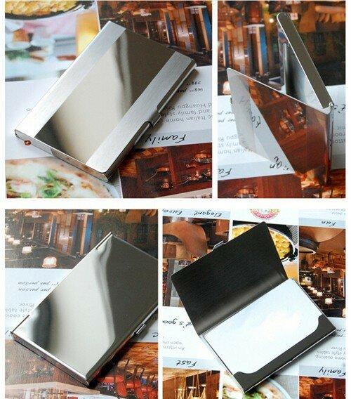 عالية الجودة الفولاذ المقاوم للصدأ حامل بطاقة الأعمال بطاقة معدنية