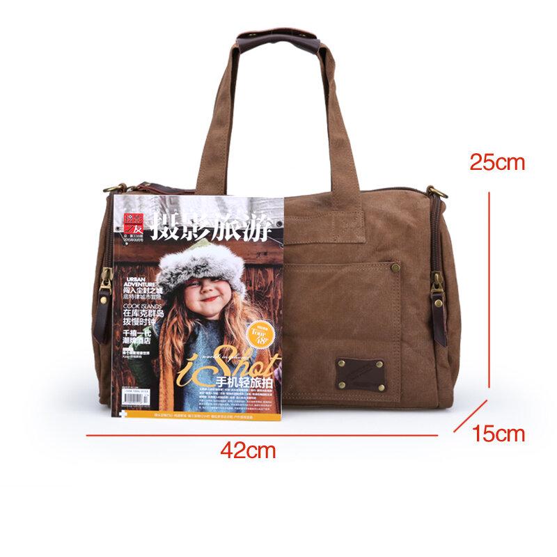 Muzee-Bolso de viaje de lona multifuncional para hombre, bolsa de mano de gran capacidad, para viaje, fin de semana