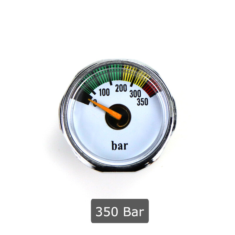 مقياس ضغط لبندقية كرات الطلاء الهوائية ، مقياس ضغط صغير PCP ، مقياس ضغط الهواء ، خيوط 1/8NPT 350Bar 1500PSI 3000PSI 5000PSI