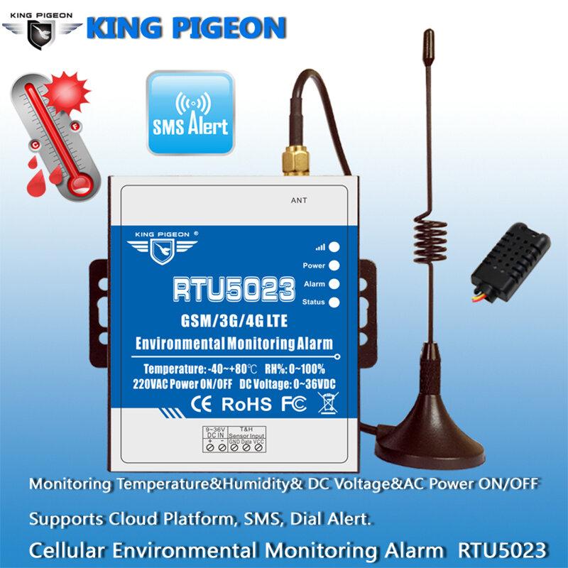GSM อุณหภูมิความชื้น AC/DC Lost ALARM REMOTE Monitor สนับสนุนจับเวลารายงาน APP ควบคุม RTU5023