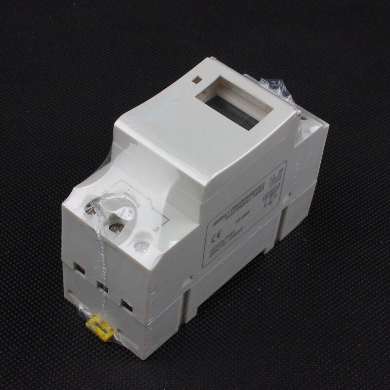 Interrupteur minuterie numérique din rail, programmable, hebdomadaire, pour micro-ordinateur, 220V 110V 30A 12V, relais d'anneau de cloche, Tp8a16