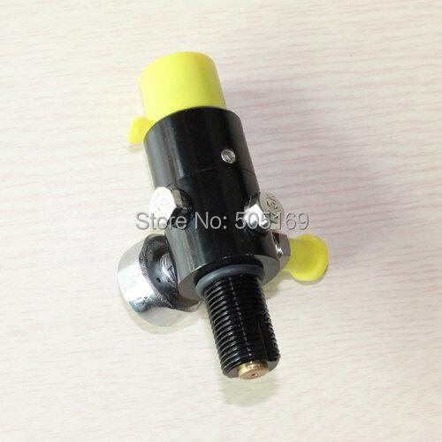 "PCP co2 กระบอก paintball marker 4500PSI ถังบีบอัด Air Regulator ความดันเอาท์พุท (2200PSI) 5/8 ""- 18UNF"