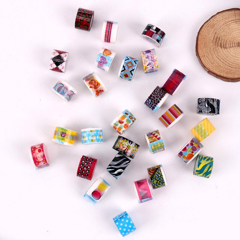 Cinta adhesiva decorativa para manualidades, 10 unidades por lote, Mini cintas de colores, pegatina de encaje con dibujos animados para diario