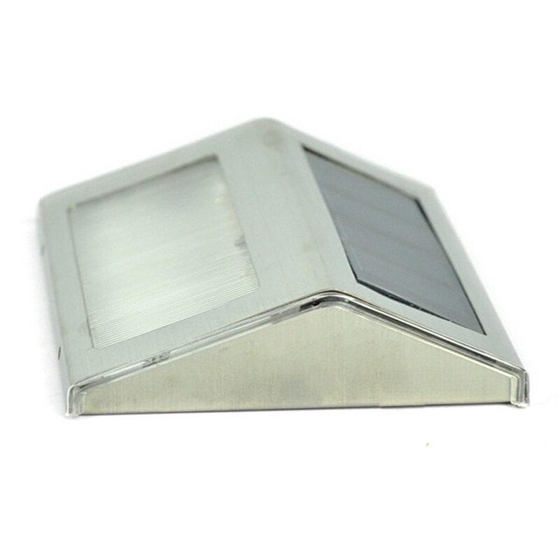LED de energía Solar para exteriores, lámpara impermeable para camino de jardín, escaleras, lámpara de ahorro de energía, lámpara Solar LED de pared, Blanco cálido, blanco frío
