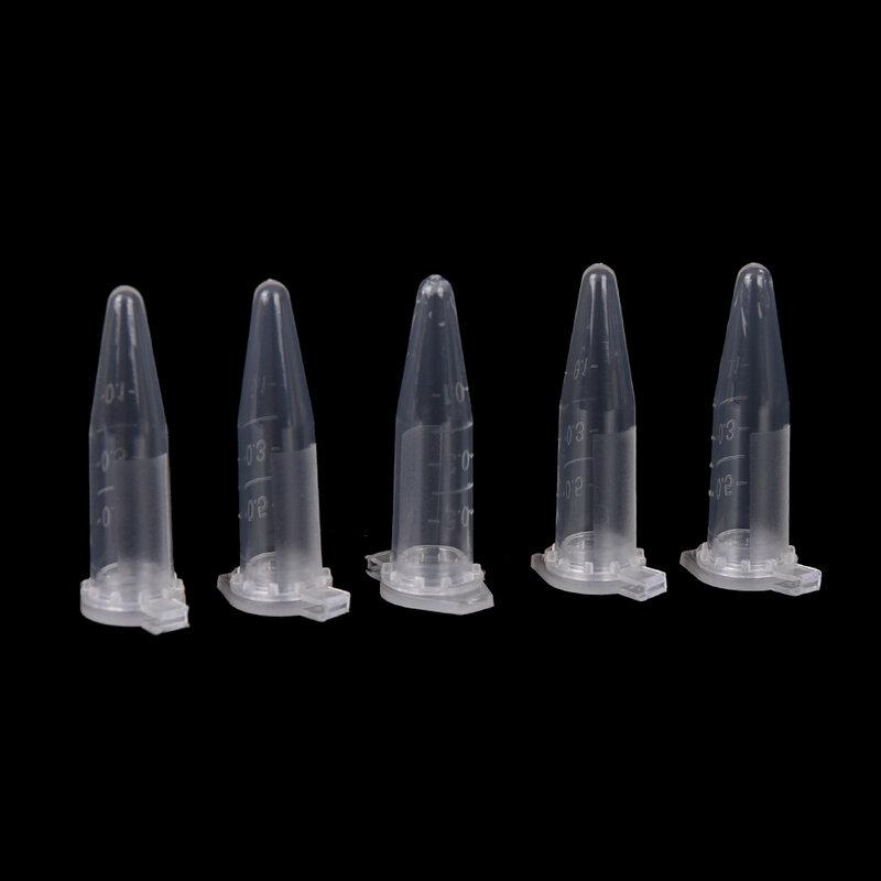 Tubo de prueba de microplástico transparente, centrífuga, Vial a presión, envase tapa para muestra de laboratorio, suministros de laboratorio, 0,5 ML, 50 Uds.
