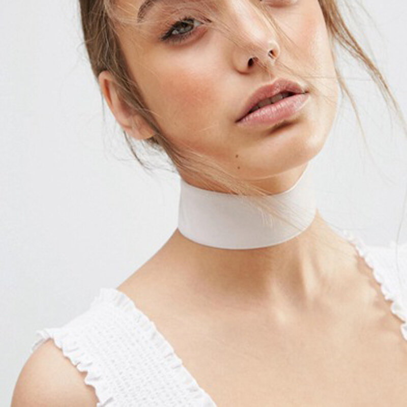 Novedad para verano, accesorios de joyería a la moda, collar de gargantilla de encaje negro ancho para enamorados N145