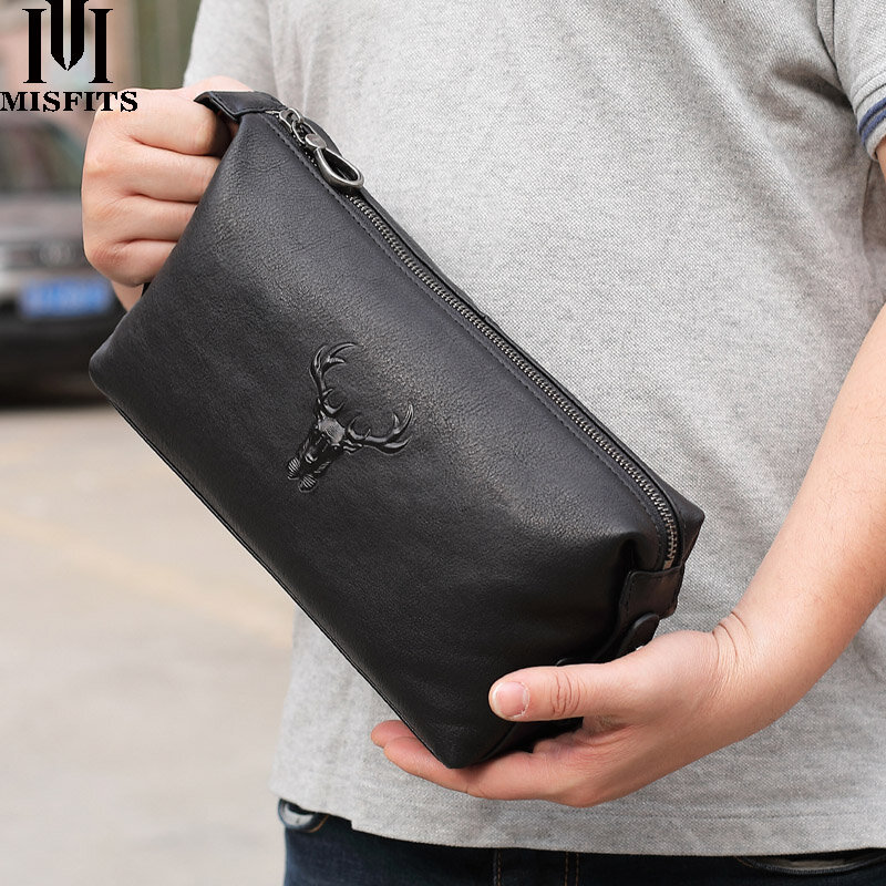 화장품 케이스 남자 정품 가죽 방수 세면 용품 워시 가방 대용량 핸드백 여행 여성 가방 지퍼 주최자를 확인하십시오