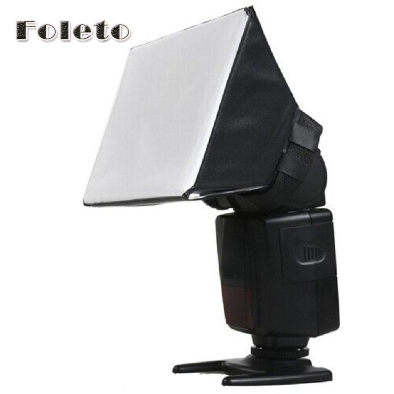 Venta al por mayor 100%, nuevo Difusor de Flash portátil Universal, para Canon, Nikon, Sony, DSLR, Speedlite, SB-800, SB-600, SB28