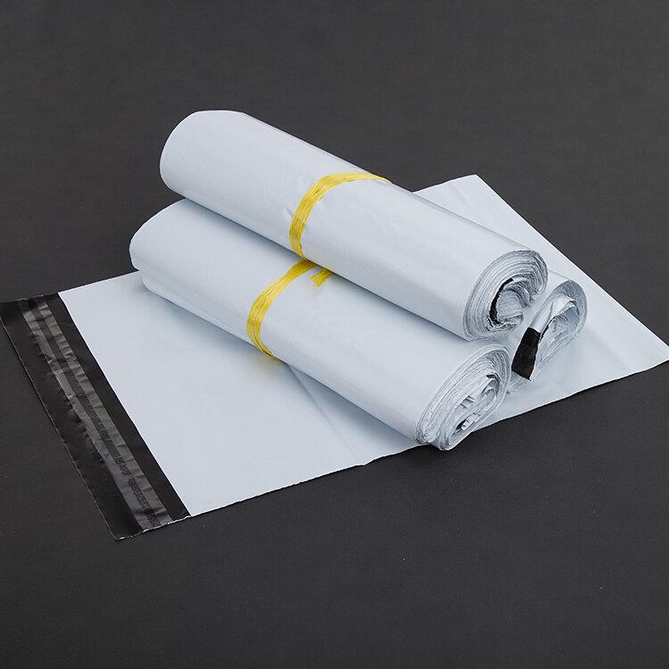 (10 أجزاء/وحدة) 15x27 سنتيمتر الأبيض ساعي أكياس Courier المغلف حقيبة شحن حقيبة البريد