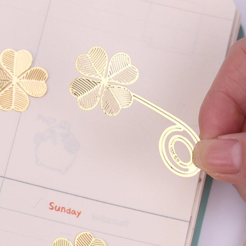 1 قطعة جديد أربعة أوراق البرسيم القراءة المعادن كليب المرجعية هدية كتاب مارك للأطفال