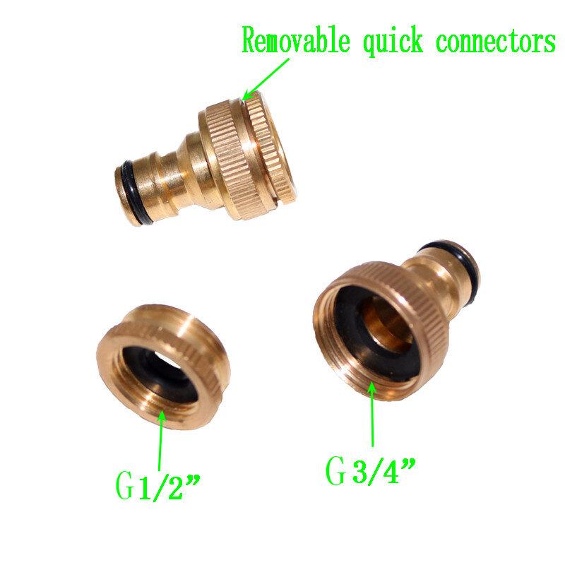 """1PC robinets en laiton pur connecteur Standard Machine à laver pistolet raccord rapide raccords de tuyauterie 1/2 """"3/4"""" 16mm tuyau"""