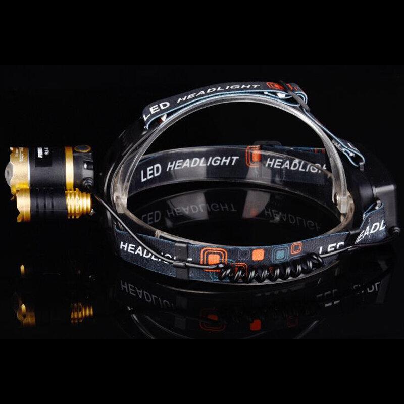 Lampe frontale T6 Xm-L + 2Q5 8000lm, lampe torche, Xml T6 18650, batterie, chargeur de voiture Ac, pêche