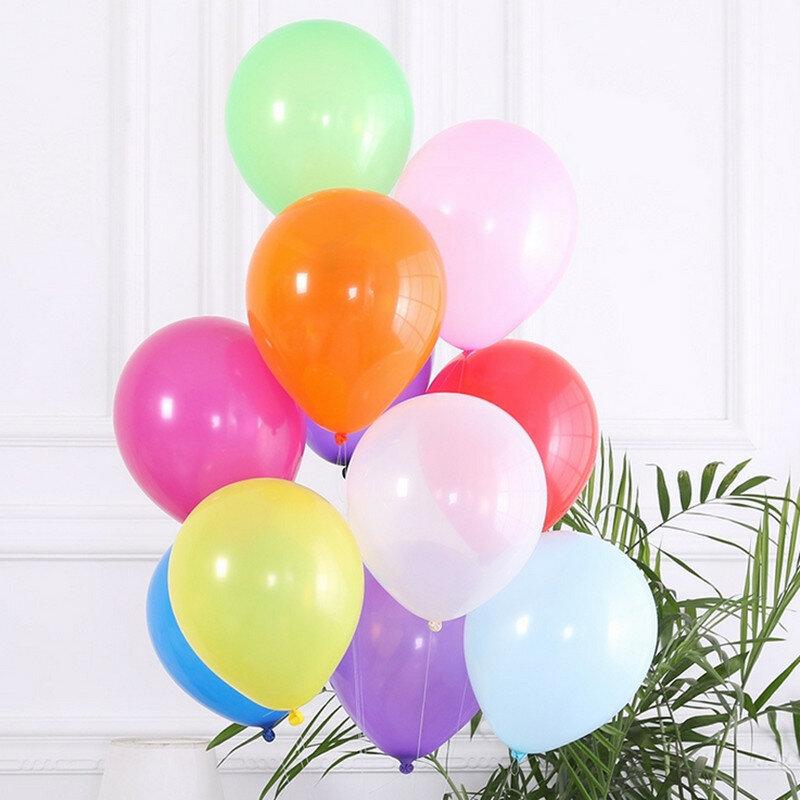 10 pz/lotto 10 pollici 1.5g Rosa Latex Balloon Air Palle Gonfiabile Decorazione Della Festa Nuziale Di Compleanno Del Partito Del Capretto Pallone Galleggiante Giocattoli del capretto