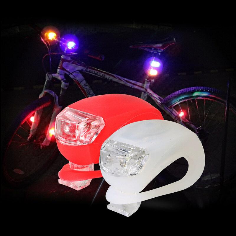 مصباح أمامي LED صغير خنفساء دراجة سيليكون مقاوم للماء ، ضوء تحذير ، ضوء خلفي للدراجة ، BL8031
