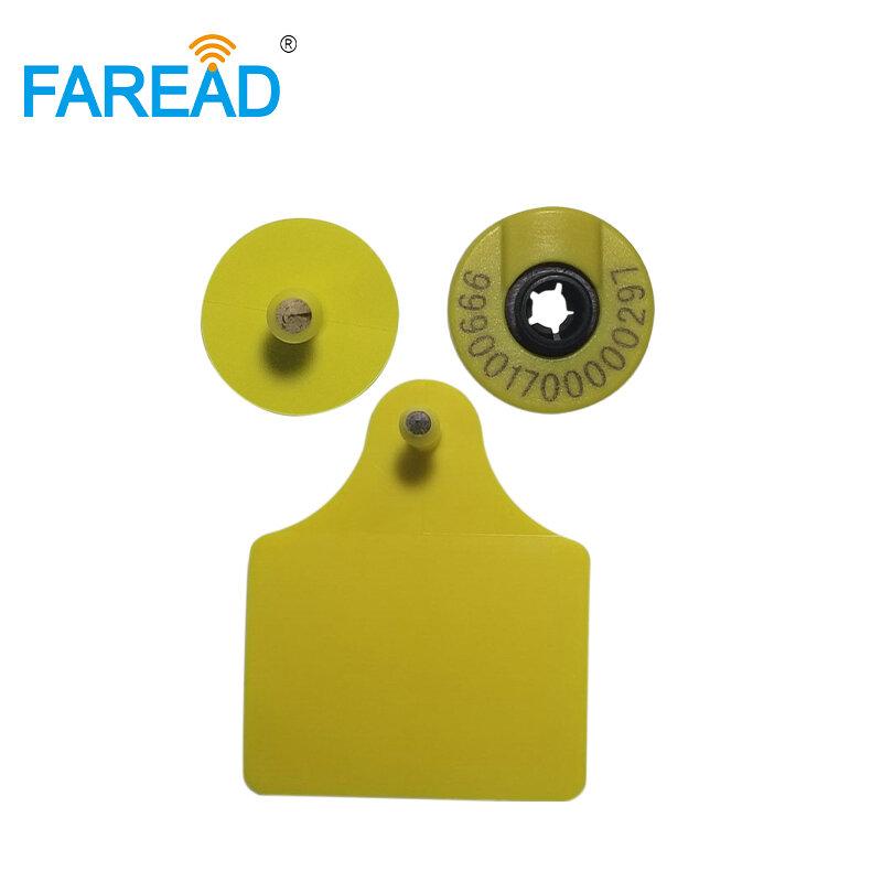X10pcs ที่ดีที่สุดคุณภาพ RFID หู ISO 11784/5 HDX อิเล็กทรอนิกส์ ear mark สำหรับหมู, วัวแกะฯลฯ