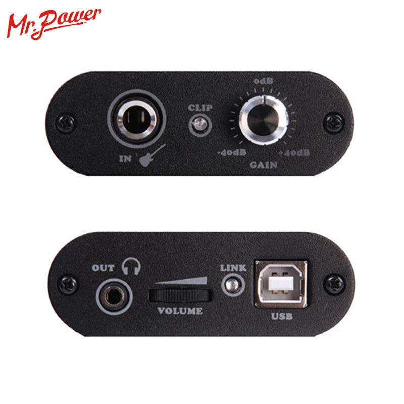Uteck กีตาร์ Cube ASIO Chord USB Audio Interface(DI) พอดีสำหรับ Soft(Guitar Rig JAMVOX AmpITube) 240 B