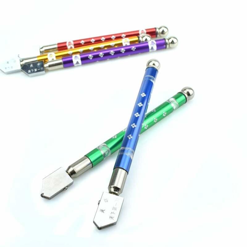 NEWACALOX Berufs Öl Gefüllt Hartmetall Flasche Glas Cutter Schneiden Rad Metall Griff Kopf Toyo Diamant Hand Werkzeuge