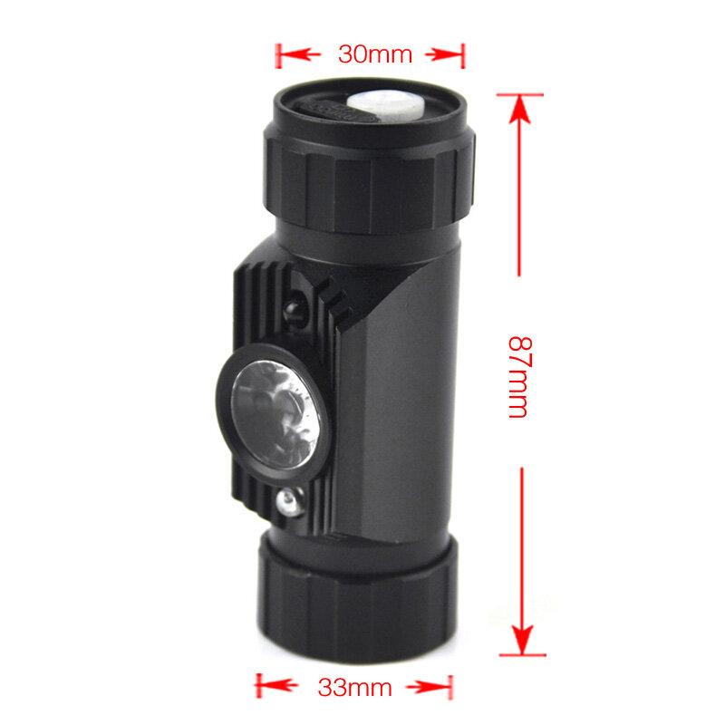 BORUiT Mini IR Sensorไฟหน้าไฟฉายUSBชาร์จไฟหน้ากันน้ำCampingไฟฉาย18650แบตเตอรี่