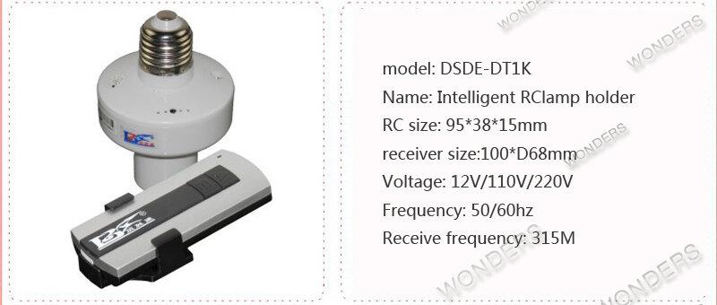 1/2/3/4 * E27 مصباح لاسلكي للتحكم عن بعد قاعدة مصباح تشغيل/إيقاف مفتاح حامل المقبس rc جهاز ذكي 110 فولت 220 فولت