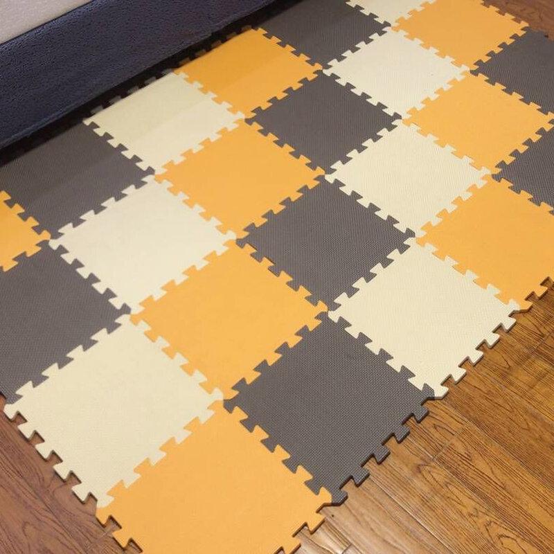 Meitoku Baby Spielen Matte, EVA Schaum kinder Teppich, Verriegelung Übung Crawl Fliesen, boden Puzzle Teppich für Kinder, Jeder 32x32cm