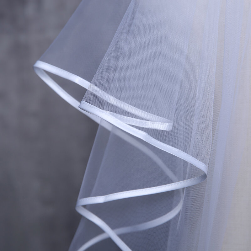 Nuovo Arrivo Velo Da Sposa Su Misura MadeTulle Velo Per La Sposa Velo Da Sposa Due strati Semplice Velo Per La Cerimonia Nuziale