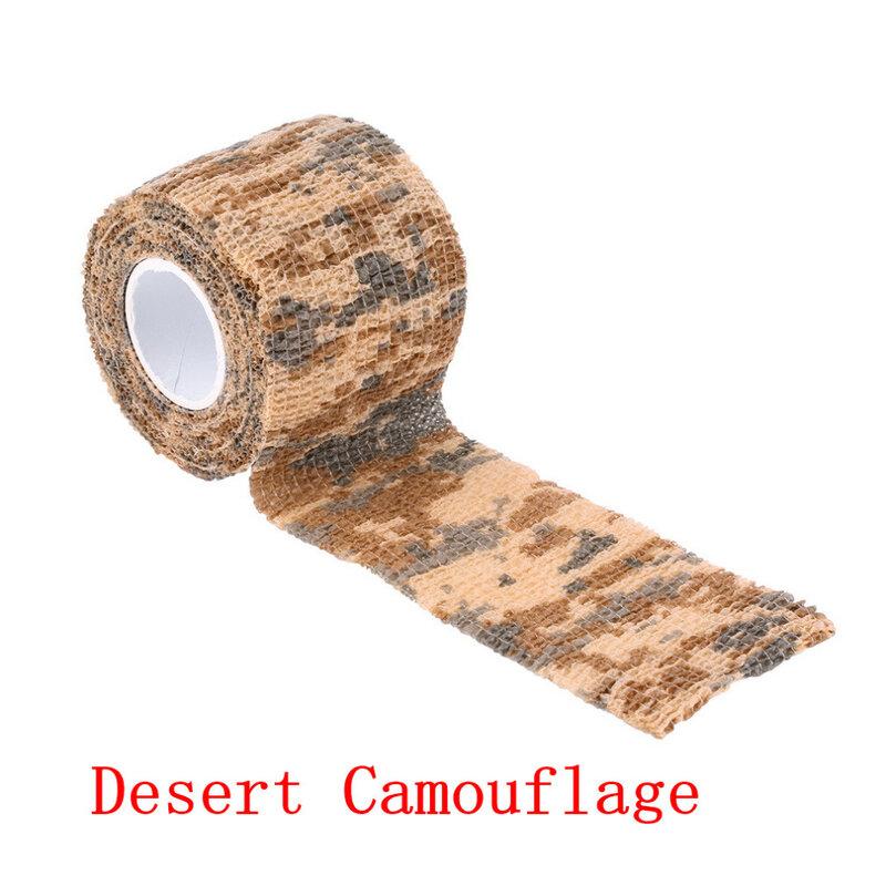 5cm x 4.5m Army Camo Caccia All'aperto di Tiro Strumento Camouflage Stealth Tape Involucro Impermeabile Durevole nuovo arrivo