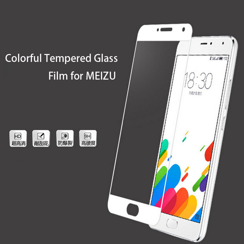 Full Cover กระจกนิรภัยสำหรับ Meizu 16th 16 Plus M6S M5S M5C M5 M6 M3 หมายเหตุ Pro 6 7 Plus MX6 X8 หน้าจอป้องกันฟิล์ม