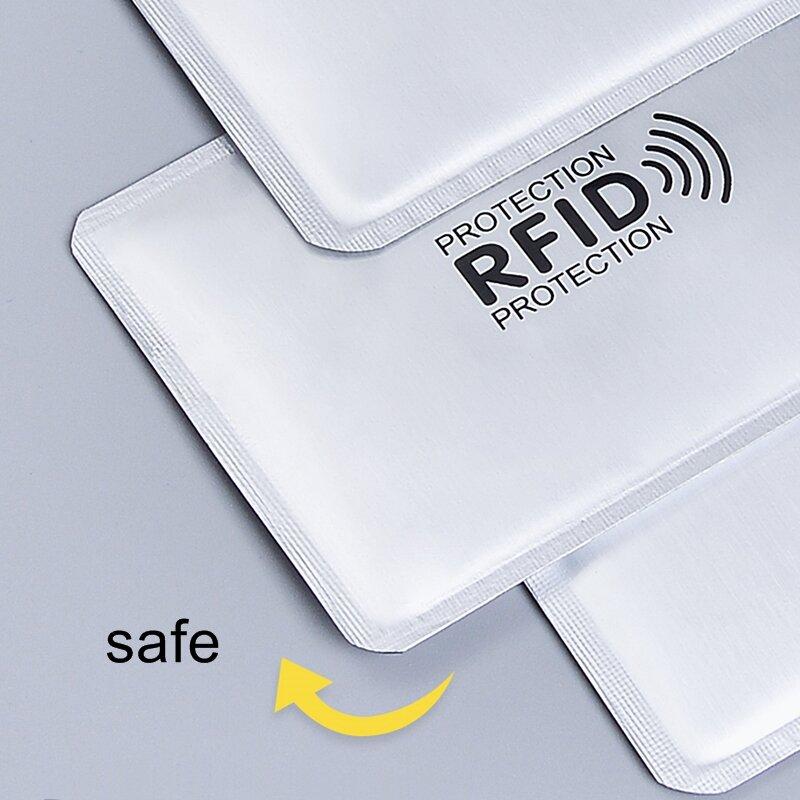 1 pc 새로운 알루미늄 반대로 rfid 독자 차단 은행 신용 카드 홀더 보호 새로운 rfid 카드 판독기 금속 신용 카드 홀더 h039