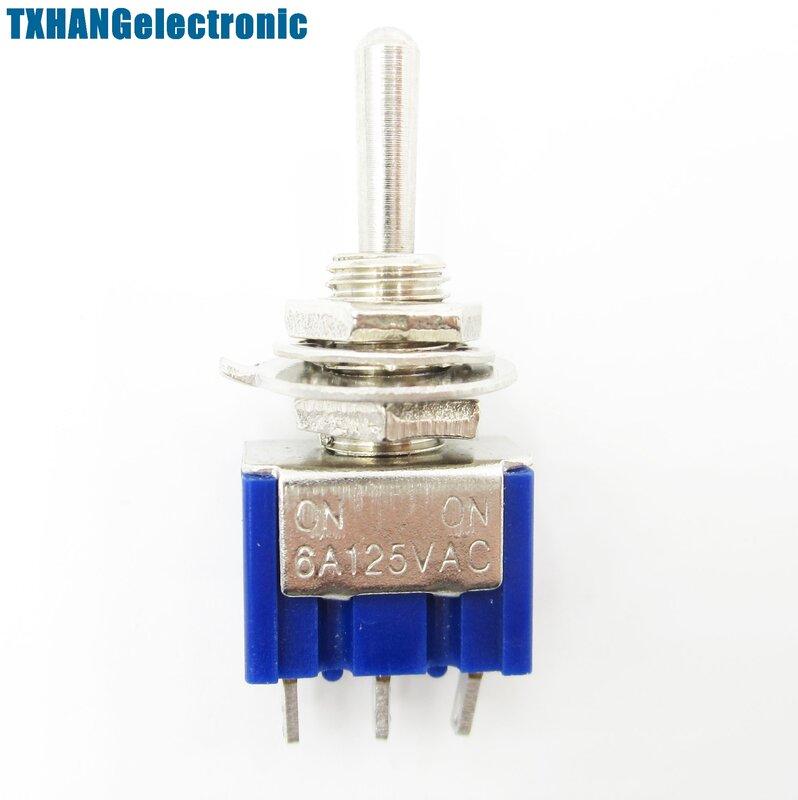 10PCS Mini 6A 125VAC SPDT MTS-102 3 Spille 2 Posizione On-on Interruttori A Levetta Practic