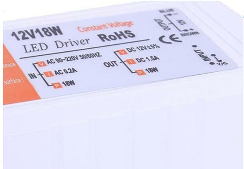 جديد جودة عالية 12 فولت DC18W امدادات الطاقة سائق محول محول التبديل لشريط LED ضوء لمبة
