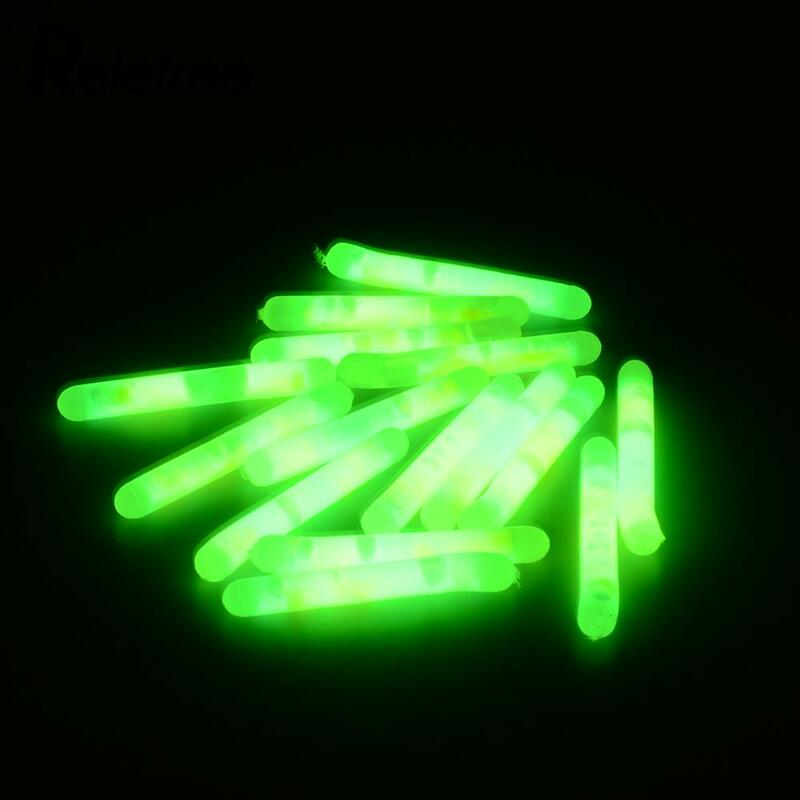 Relefree 15Pcs 4.5x36mm pesca luce fluorescente luce notturna bastone galleggiante asta luci bagliore scuro accessori da pesca