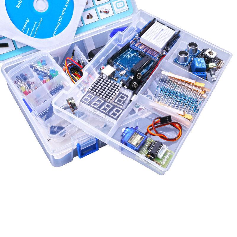 Elego UNO Project lo Starter Kit più completo per UNO R3 Mega2560 Nano con Tutorial/alimentatore/motore passo-passo