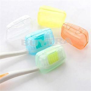 5Pcแบบพกพาแปรงสีฟันหัวแปรงสีฟันป้องกันหมวกสุขภาพGermproof Toothbrushes Protector