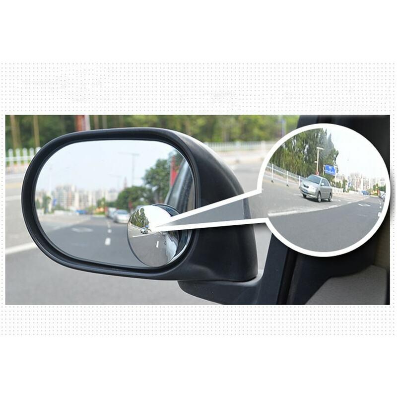 Espejo de visión trasera sin marco, ángulo amplio ultrafino, redondo, convexo, para estacionamiento, alta calidad, 360 grados, 1 par