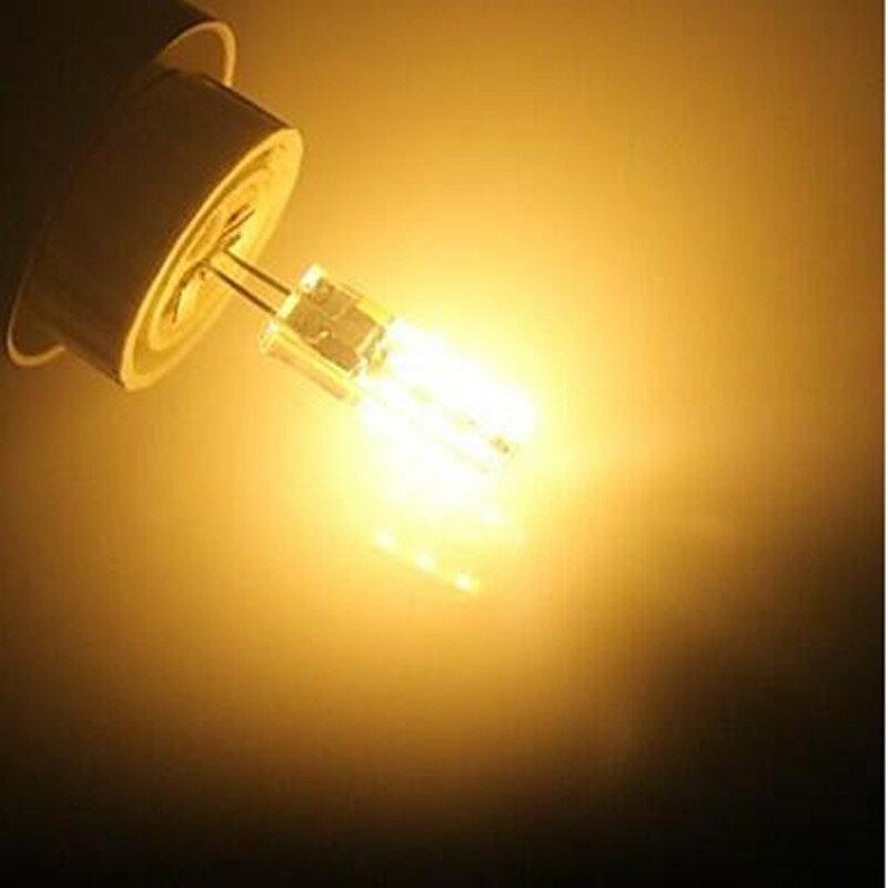 لمبة ليد G4 2W 12V/AC220V 3014SMD 24Led ، مصباح سيليكون ، أبيض دافئ/أبيض l ، زاوية 360 درجة ، 10 قطعة