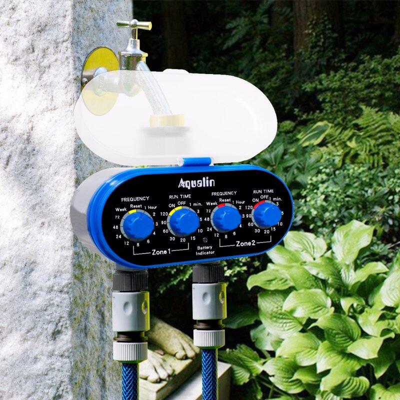 Ball Ventil Elektronische Automatische Bewässerung Zwei Outlet Vier Skalen Wasser Timer Garten Bewässerung Controller für Garten, Hof #21032