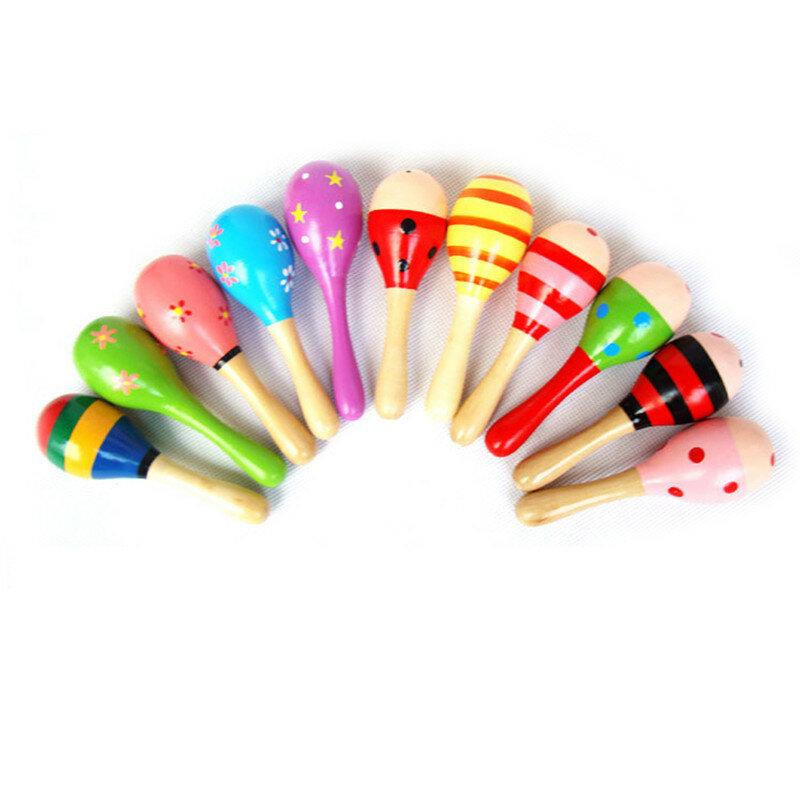 Marteau à sable en bois pour bébés et tout-petits, hochets Maraca en bois, marteau à sable pour enfants, cadeau de fête Musical, jouet Shaker pour bébé