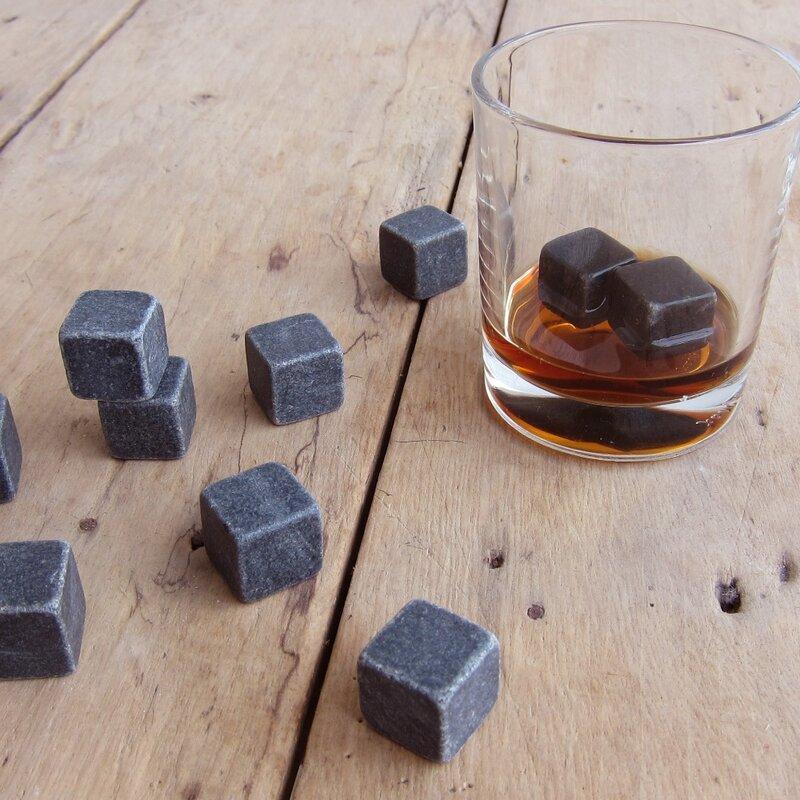 Drixon 100% Natural Whiskey Stones Sipping Ice Cube วิสกี้หินวิสกี้ Rock Cooler ของขวัญงานแต่งงาน Christmas Christmas Bar