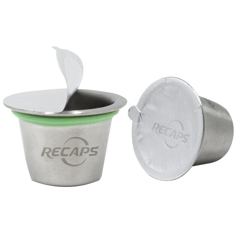 สรุป 120/240/360 Pcs Adhesive อลูมิเนียมฝาปิดซีลสำหรับบรรจุ Empty Disposable Refillable Reusable Nespresso POD แคปซูล