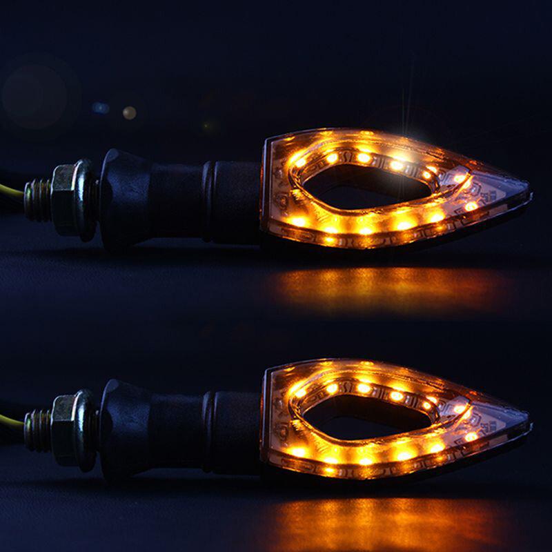 ليبي 1 زوج مقاوم للماء العنبر ضوء العالمي 12 LED دراجة نارية بدوره إشارة مؤشرات أضواء/مصباح