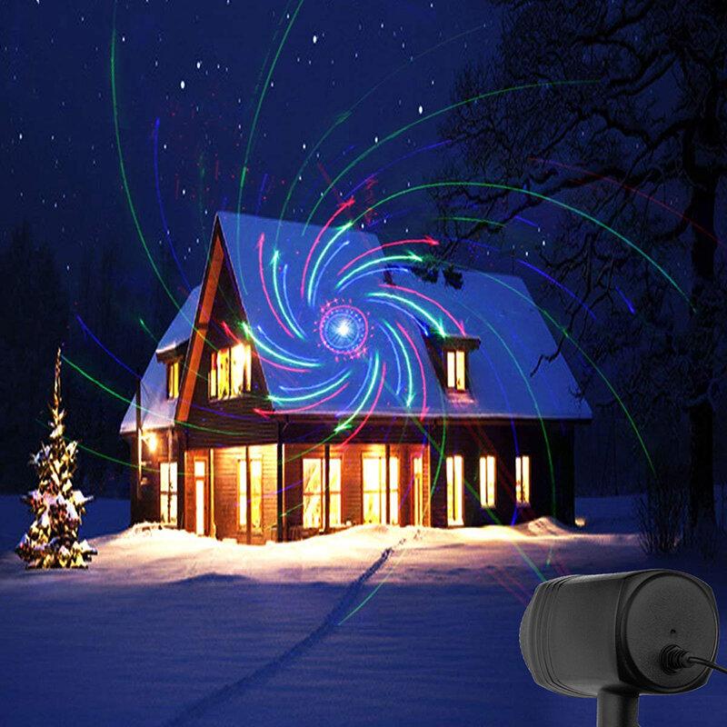 نجوم الكريسماس ، 24 نمط ، جهاز عرض ، تأثير ، متحرك ، مقاوم للماء ، خارجي ، حديقة ، عيد الميلاد ، ديكور الحديقة