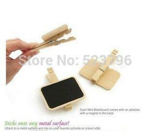 Clip di legno prescolare della bacheca del premio della clip del tavolo da pranzo della clip della lavagna di legno libera di trasporto 30pcs