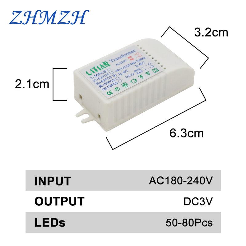 مزود الطاقة LED ، محول إلكتروني 220 فولت إلى تيار مستمر 3 فولت 15 مللي أمبير ، مصباح قبعة القش ، 1-36 قطعة